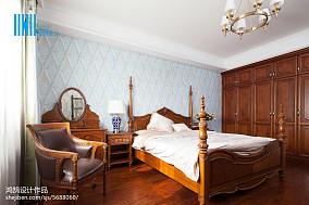 精美面积125平别墅卧室美式欣赏图片151-200m²别墅豪宅美式经典家装装修案例效果图