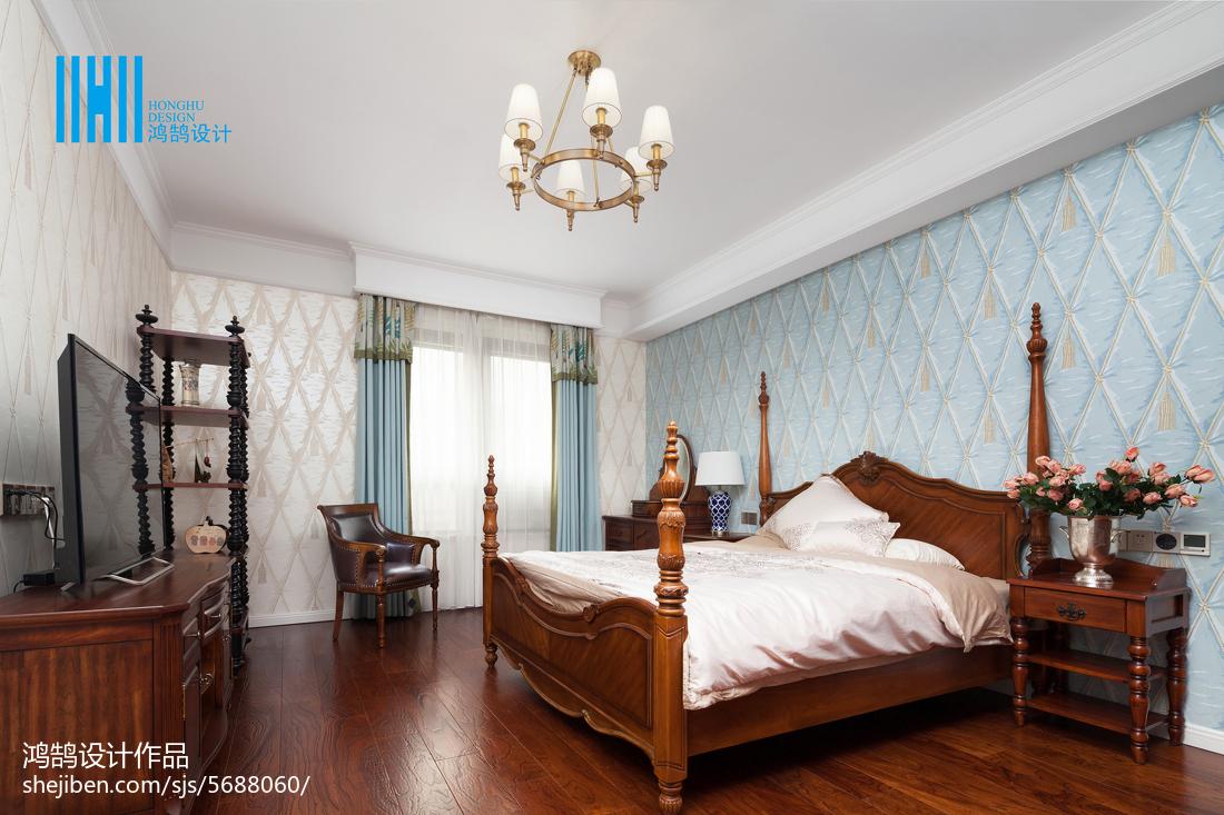 面积138平别墅卧室美式装修设计效果图片卧室窗帘美式经典卧室设计图片赏析