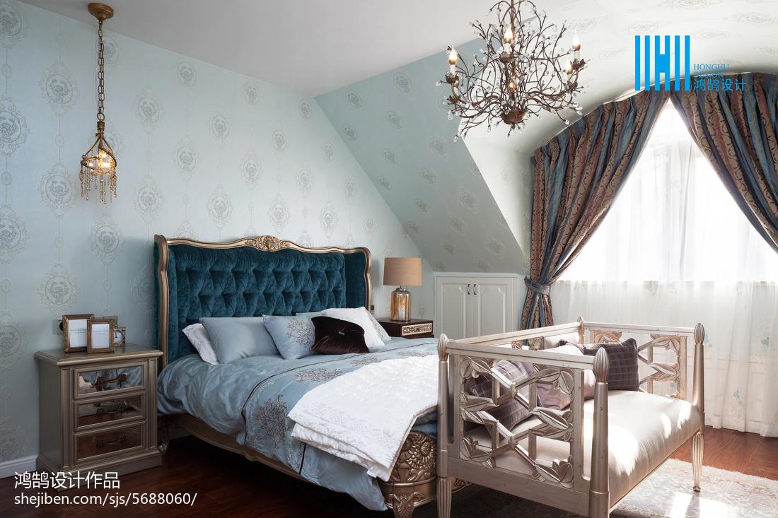 精选120平米美式别墅卧室实景图片大全卧室美式经典卧室设计图片赏析