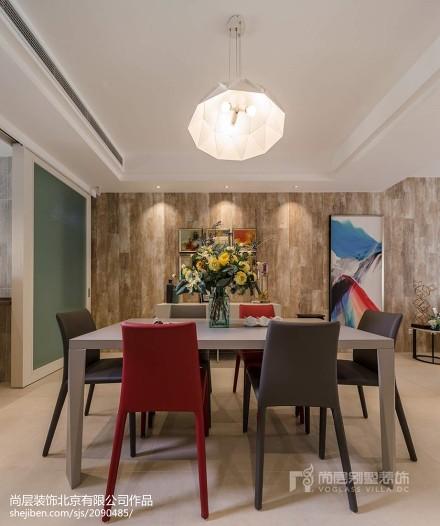 面积132平别墅餐厅现代欣赏图片