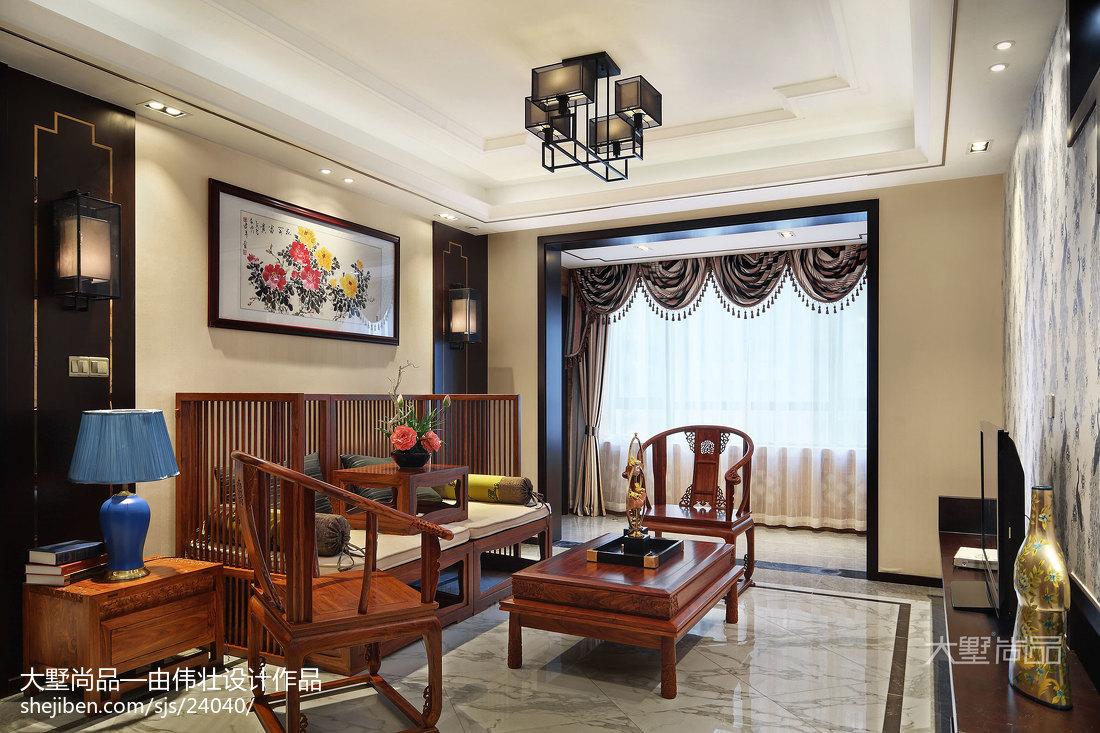 2018大小88平中式二居客厅装饰图片大全客厅中式现代客厅设计图片赏析