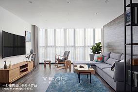 热门复式客厅北欧装修设计效果图片