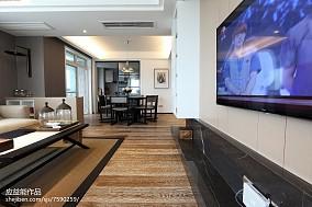 简欧三居客厅装修设计效果图片大全三居北欧极简家装装修案例效果图