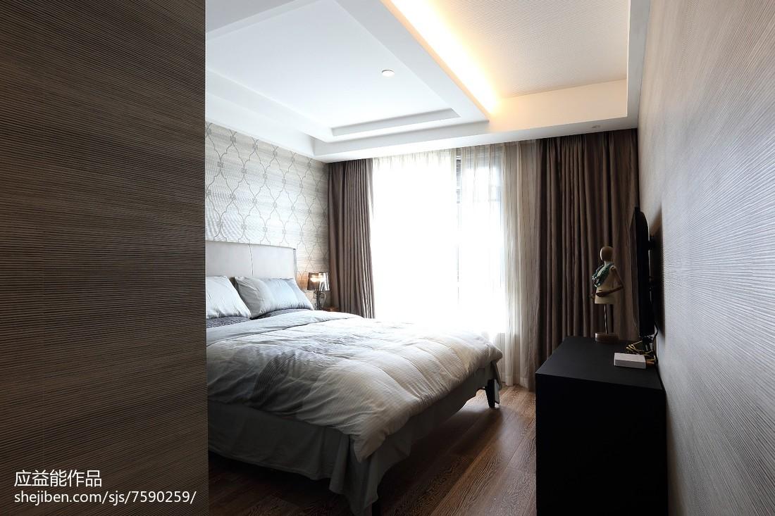 优雅简欧风格卧室装饰图北欧极简设计图片赏析