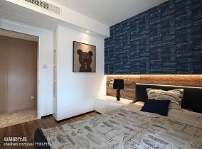 2018简欧三居卧室装修图片欣赏三居北欧极简家装装修案例效果图