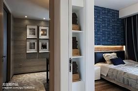 精美面积96平简欧三居卧室装修实景图片三居北欧极简家装装修案例效果图