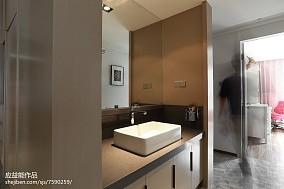 精美109平米三居卫生间简欧欣赏图三居北欧极简家装装修案例效果图