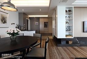 平米三居餐厅简欧装修图三居北欧极简家装装修案例效果图