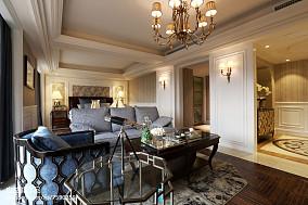 2018精选127平米欧式别墅客厅设计效果图别墅豪宅欧式豪华家装装修案例效果图