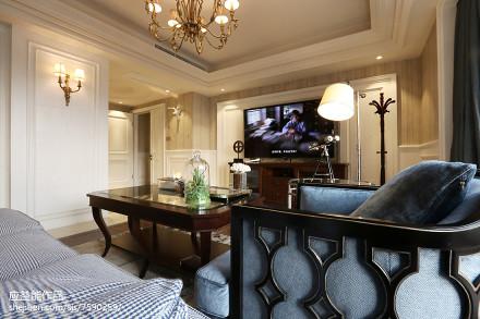 精选143平米欧式别墅客厅欣赏图片