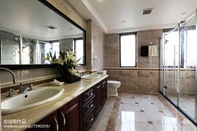 精美139平米欧式别墅卫生间效果图别墅豪宅欧式豪华家装装修案例效果图