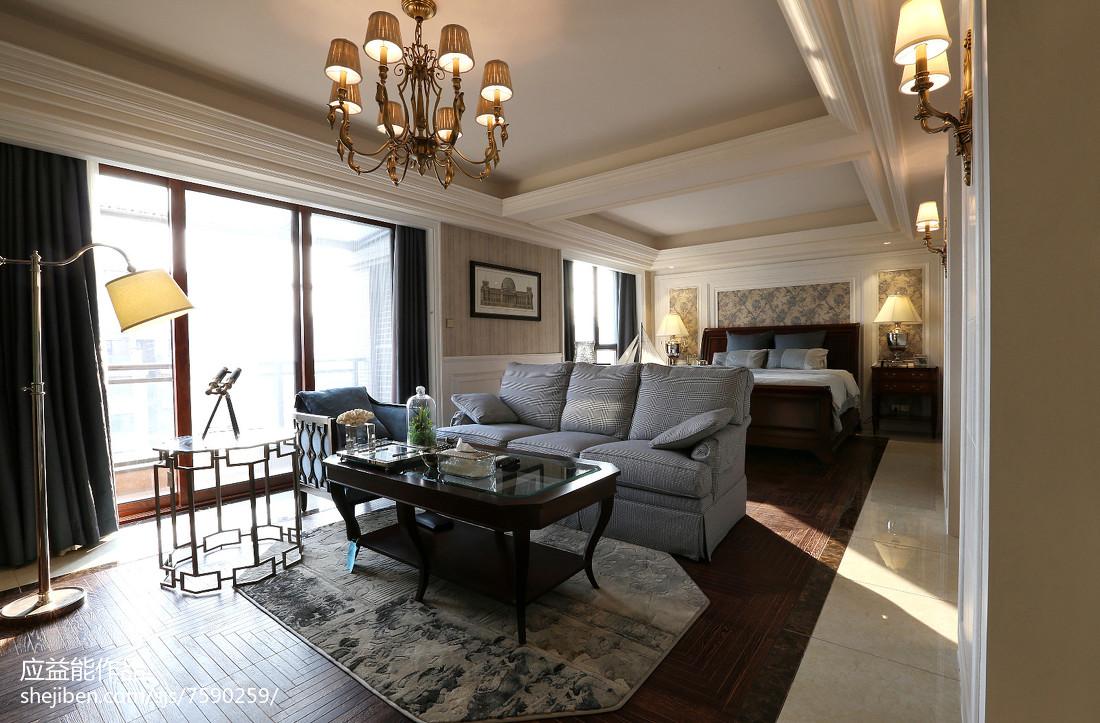 热门127平米欧式别墅客厅装修欣赏图别墅豪宅欧式豪华家装装修案例效果图