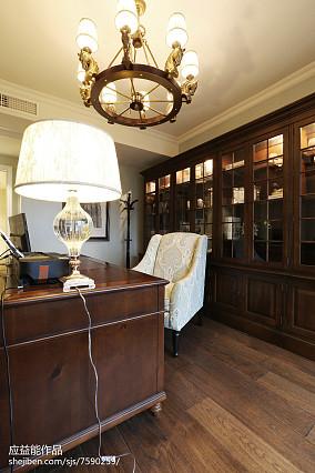 精选135平米欧式别墅书房欣赏图片别墅豪宅欧式豪华家装装修案例效果图