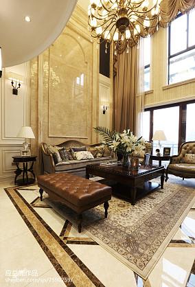 热门面积112平别墅客厅欧式装修设计效果图别墅豪宅欧式豪华家装装修案例效果图