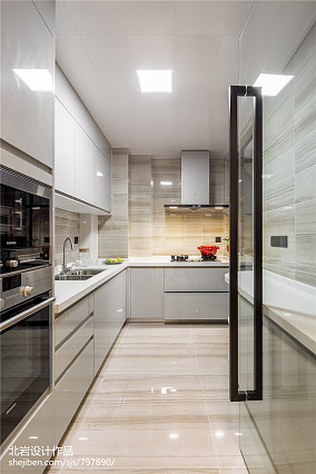 精美103平米三居厨房现代装饰图片欣赏