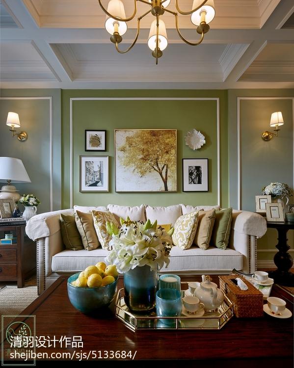 浪漫93平美式二居客厅装修效果图客厅美式经典客厅设计图片赏析