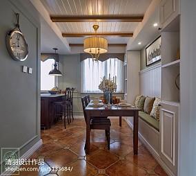 2018面积88平美式二居餐厅装修图片大全81-100m²二居美式经典家装装修案例效果图