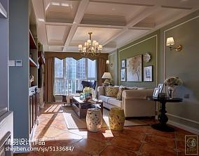 2018精选二居客厅美式装饰图片欣赏81-100m²二居美式经典家装装修案例效果图