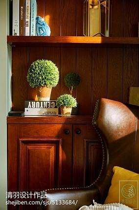 精美大小70平美式二居客厅装修图片欣赏81-100m²二居美式经典家装装修案例效果图