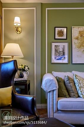 热门面积76平美式二居客厅装修图81-100m²二居美式经典家装装修案例效果图