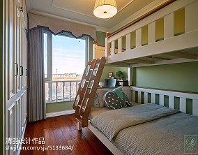 轻奢77平美式二居儿童房效果图片大全