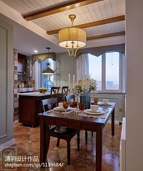 精美美式二居餐厅装饰图81-100m²二居美式经典家装装修案例效果图