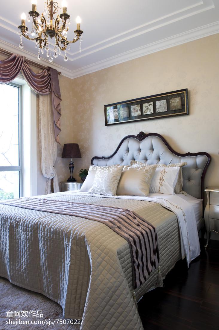 平方四居卧室欧式装修效果图卧室