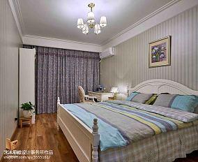 2018精选面积101平美式三居卧室装饰图片