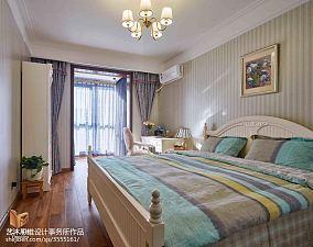 精美106平方三居卧室美式欣赏图片