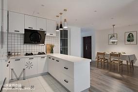 2018精选面积106平北欧三居厨房装修欣赏图片大全三居北欧极简家装装修案例效果图