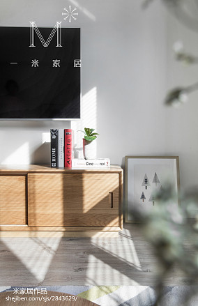 2018精选105平米三居客厅北欧实景图三居北欧极简家装装修案例效果图