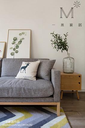 精美面积96平北欧三居客厅效果图三居北欧极简家装装修案例效果图