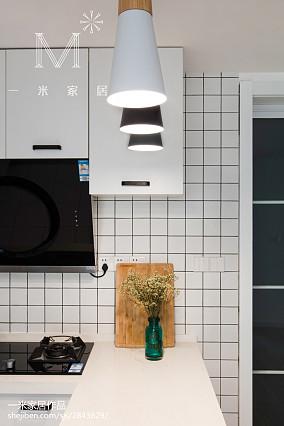 2018北欧三居厨房装修实景图三居北欧极简家装装修案例效果图