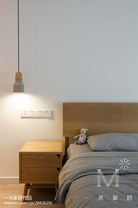 2018精选93平米三居卧室北欧欣赏图三居北欧极简家装装修案例效果图