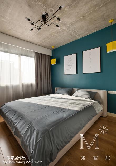 热门面积106平北欧三居卧室装修图