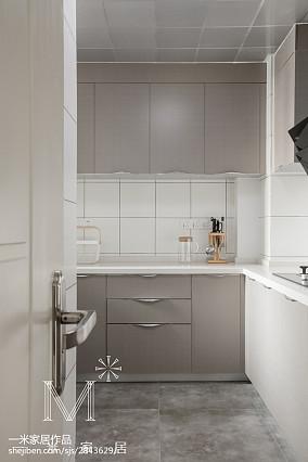 精选三居厨房北欧装修实景图三居北欧极简家装装修案例效果图