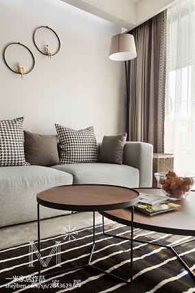 精美面积98平北欧三居客厅装修欣赏图片三居北欧极简家装装修案例效果图