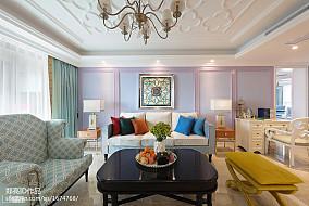 浪漫170平法式复式客厅装修装饰图
