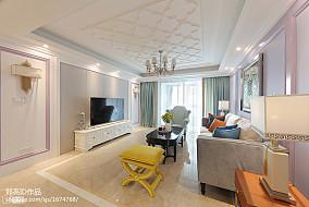质朴50平法式复式客厅实拍图客厅欧式豪华设计图片赏析