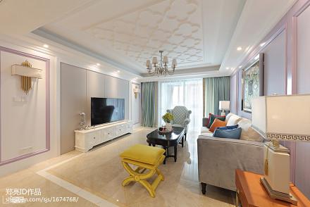 质朴50平法式复式客厅实拍图客厅