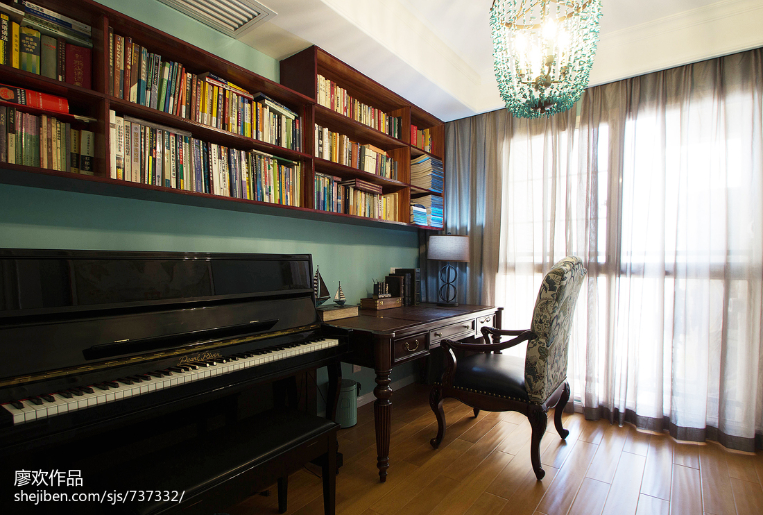精致美式书房装修