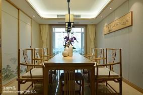 2018111平米四居餐厅中式装修图片大全