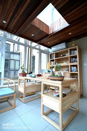 热门面积118平中式四居书房实景图