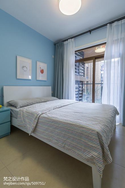 平现代四居图片欣赏卧室