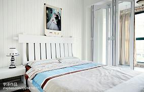 2018精选面积97平地中海三居卧室装修设计效果图片欣赏