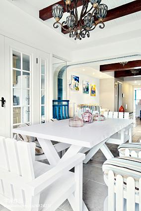 精美面积104平地中海三居餐厅实景图