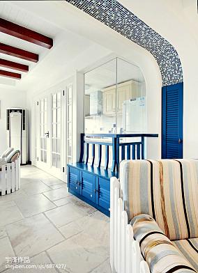 热门102平米三居餐厅地中海装修设计效果图