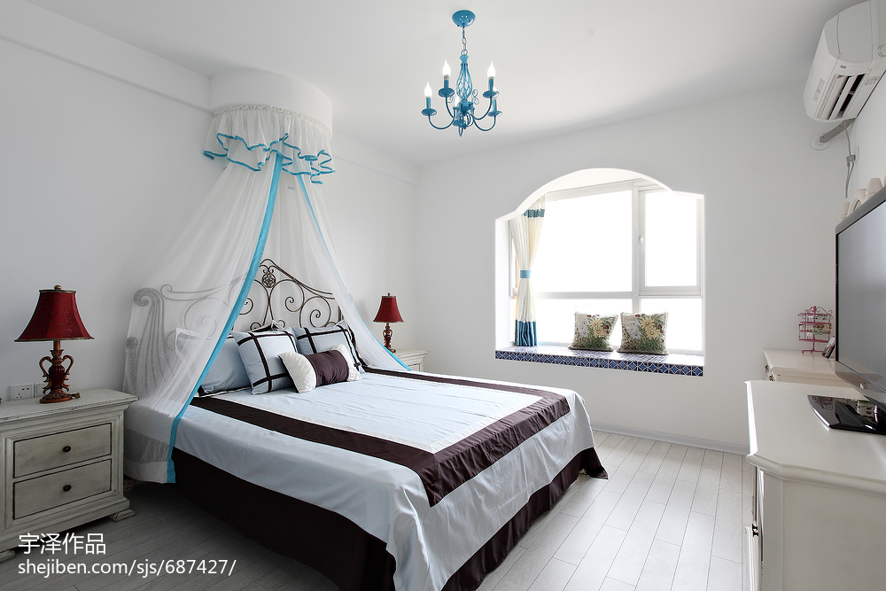 精选三居卧室地中海设计效果图卧室地中海卧室设计图片赏析