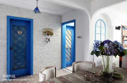 精选104平米三居餐厅地中海装饰图片客厅2图
