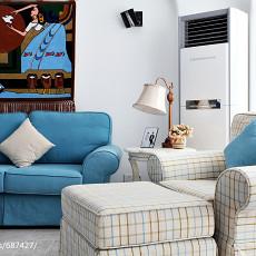 2018精选大小103平地中海三居客厅装饰图片大全